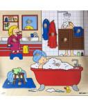 Educo Inlegpuzzel badkamer (zie afbeelding)